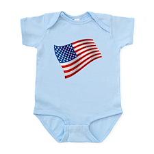USA, America, Flag, Patriotic Body Suit