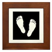 footprints Framed Tile