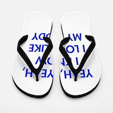YEAH-DADDY-FUT-BLUE Flip Flops