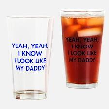 YEAH-DADDY-FUT-BLUE Drinking Glass