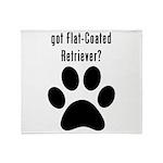 got Flat-Coated Retriever? Throw Blanket