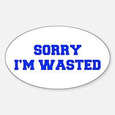 SORRY-IM-WASTED-FRESH-BLUE Decal