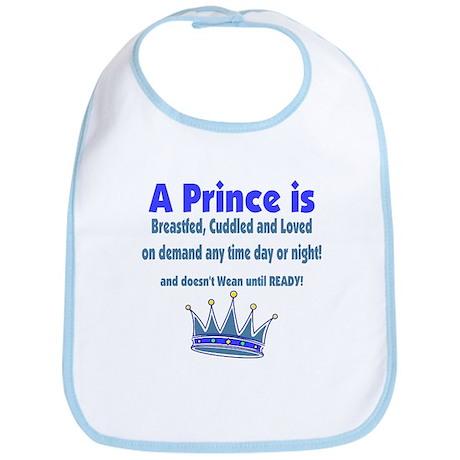 A Prince is Breastfed Bib