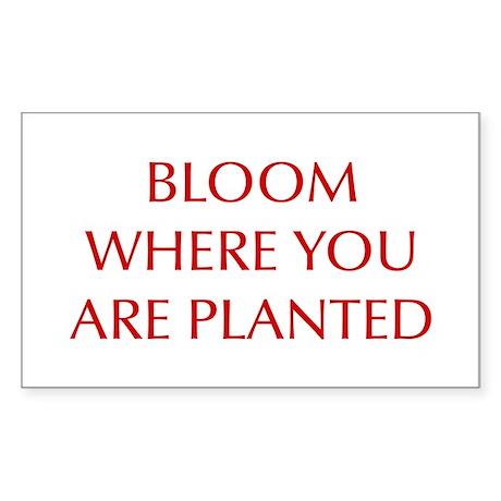 BLOOM-OPT-RED Sticker