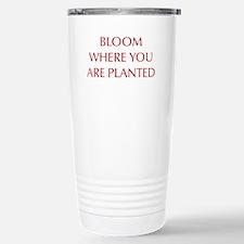 BLOOM-OPT-RED Travel Mug