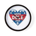 Vote Elizabeth Dole 2008 Political Wall Clock