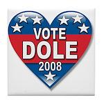 Vote Elizabeth Dole 2008 Political Tile Coaster