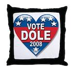 Vote Elizabeth Dole 2008 Political Throw Pillow
