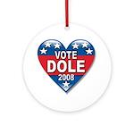 Vote Elizabeth Dole 2008 Political Ornament (Round
