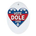 Vote Elizabeth Dole 2008 Political Oval Ornament