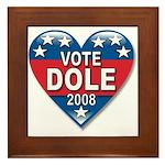 Vote Elizabeth Dole 2008 Political Framed Tile
