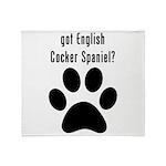 got English Cocker Spaniel? Throw Blanket