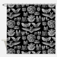 Vintage Bat Illustrations Shower Curtain