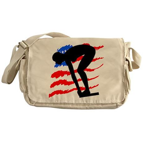 USA SWIMMER Messenger Bag