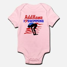 SWIMMER GIRL Infant Bodysuit