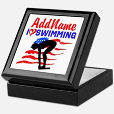 SWIMMER GIRL Keepsake Box