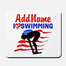 SWIMMER GIRL Mousepad