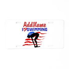 SWIMMER GIRL Aluminum License Plate