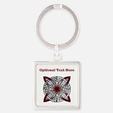 Personalizable Maroon Decorative Celtic Knot Keych
