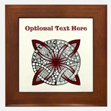 Personalizable Maroon Decorative Celtic Knot Frame