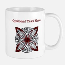 Personalizable Maroon Decorative Celtic Knot Mugs