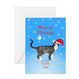 Christmas from the cat Greeting Cards