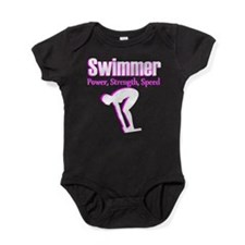 AWESOME SWIMMER Baby Bodysuit