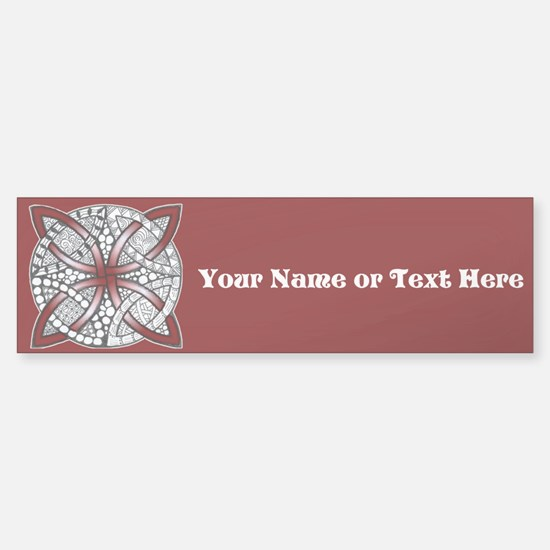 Personalizable Maroon Decorative Celtic Knot Bumpe