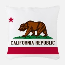 California Republic Woven Throw Pillow