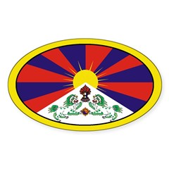 Tibet Oval Decal