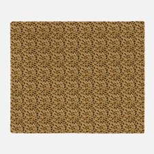 Spotted Leopard Woven Blanket Throw Blanket