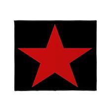Red Star Woven Blanket Throw Blanket