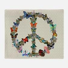 Butterfly Peace Sign Blanket 2 Throw Blanket