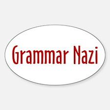 Grammar Nazi Oval Decal