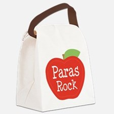 Paraeducator Paras Rock apple Canvas Lunch Bag