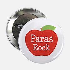 """Paraeducator Paras Rock apple 2.25"""" Button"""