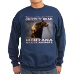 Grizzly - Montana State Animal Sweatshirt (dark)