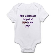 Power of Idiots  Infant Bodysuit