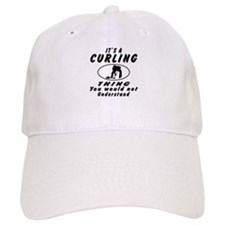 Curling Thing Designs Baseball Cap