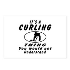 Curling Thing Designs Postcards (Package of 8)
