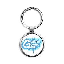 Cute Gamer Round Keychain