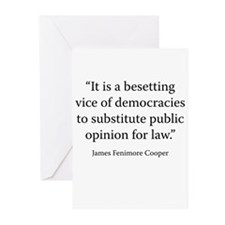 On the Disadvantages of Democracy Greeting Cards