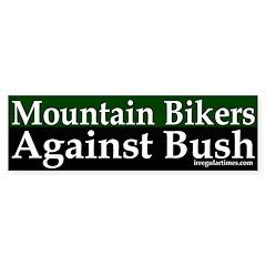 Mountain Bikers Against Bush (sticker)
