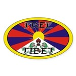 Tibet Oval Sticker