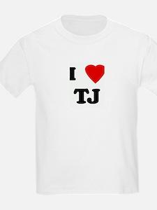 I Love TJ Kids T-Shirt