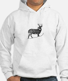 White Tailed Deer Trophy Buck Hoodie