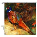 Pheasant Pair Shower Curtain