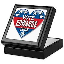 Vote John Edwards 2008 Political Keepsake Box