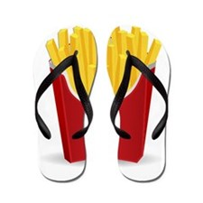 French Fries Flip Flops