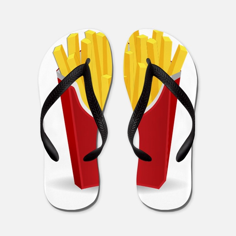 French Fries Flip Flops